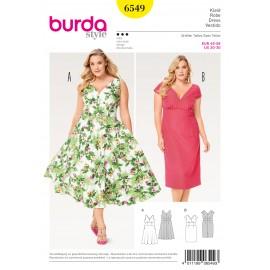 Dress Waist Band  Small Sleeves Burda Sewing Pattern N°6549