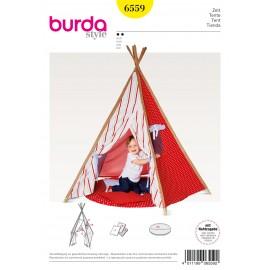 Patron Tente tente d'indien tipi coussins Burda N°6559