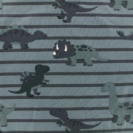 Tissu jersey Sweet Dino - bleu x 19cm