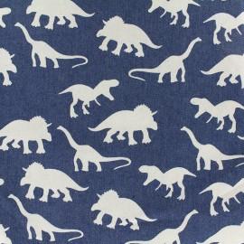 Tissu Jeans fluide Dino - bleu x 15cm