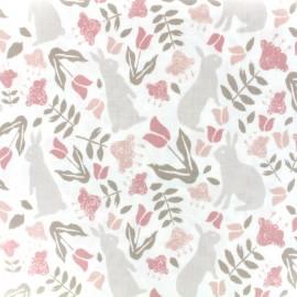 Tissu enduit coton Dailylike - Rabbit x 10cm