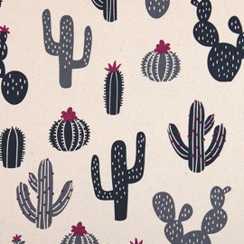 Tissu toile coton Daily Like - Cactus x 10cm