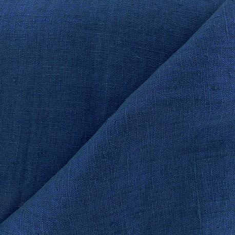 Thevenon washed Linen Fabric - petrol blue x 10cm