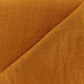 Thevenon washed Linen Fabric - orange marmelade  x 10cm