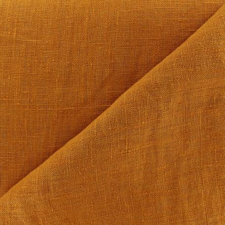 Tissu lin lavé Thevenon - orange marmelade x 10cm