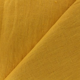 Thevenon washed Linen Fabric - yellow pineapple x 10cm