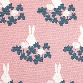 Cotton canvas fabric Daily Like - Clover and rabbit x 15cm