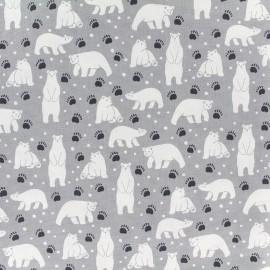 Cotton canvas fabric Daily Like - Polar bear x 10cm