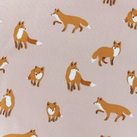 Tissu toile coton Daily Like - Winter fox x 10cm