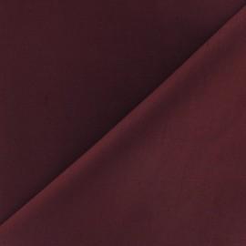 Tissu Popeline - bordeaux x 10cm
