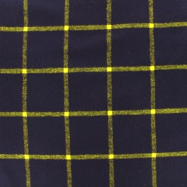 Flannel fabric Daily Like -  Check mighty navy x 10cm
