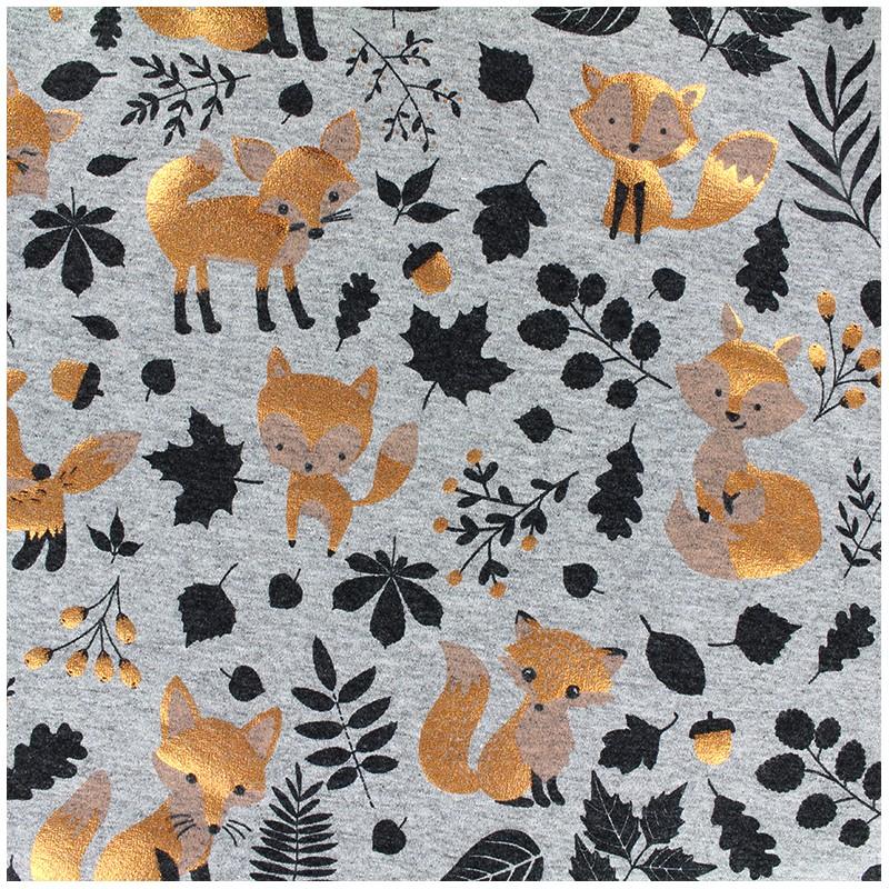 2cf92adf627 Jersey fabric Copper Fox - gris x 22cm - Ma Petite Mercerie