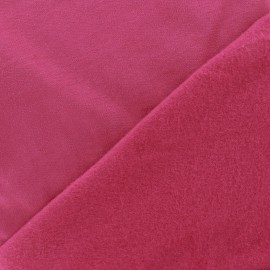 Tissu sweat - magenta x 10cm