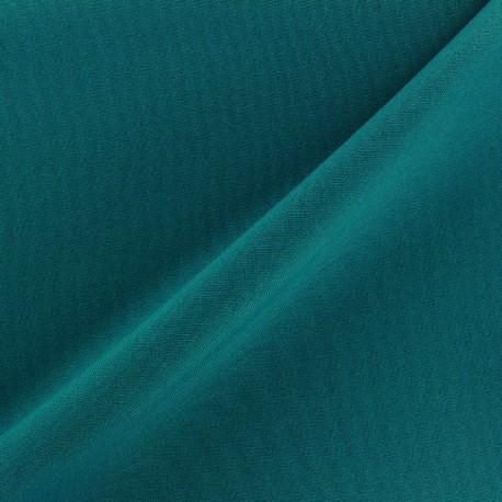 Tissu Burling - bleu paon x 10cm