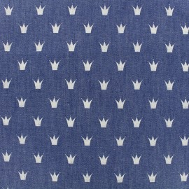 Fluid jeans fabric Royal - blue x 10cm