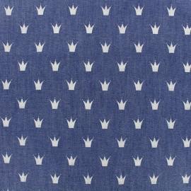 Tissu Jeans fluide Royal - bleu x 10cm