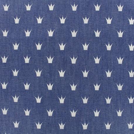 Fluid jeans fabric Royal - blue x 10cm