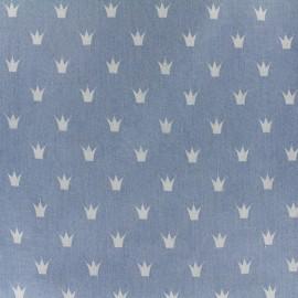 Tissu Jeans fluide Royal - bleu clair x 10cm