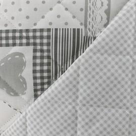 Tissu matelassé Patchouli - gris x 20cm