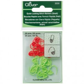 Quick locking stitch marker 20 pieces small Clover