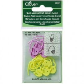 Quick locking stitch marker 12 large pieces Clover