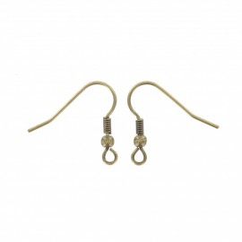 Support boucles d'oreilles 18 mm (lot de 2) - bronze