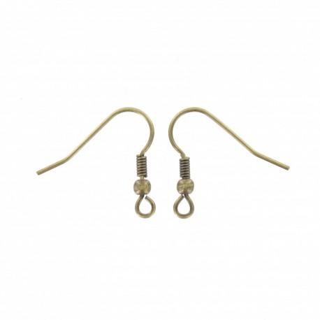 Support boucles d'oreilles 18 mm (lot de 2) - bronze