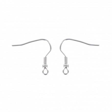 Earring hook 18 mm (set of 2) - silver