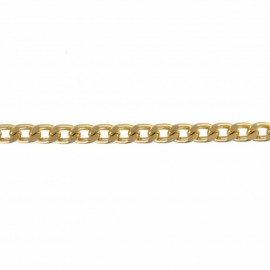 6 mm Mesh Metal Chain - Gold