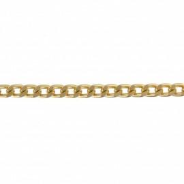 Chaîne maille métal couleur doré 6 mm x 1m