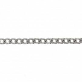 Chaîne maille métal  6 mm - argenté x 50 cm