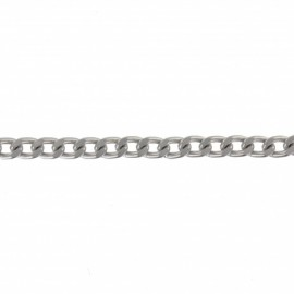 Metal mesh chain 6 mm - silver x 50 cm