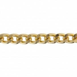 Metal mesh chain 12 mm - gold x 50 cm
