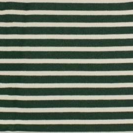 Striped Padded sweat fabric - green x 10cm