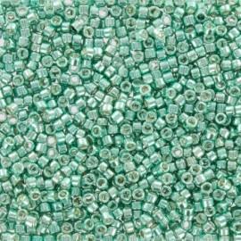 Perles de rocaille TOHO 11/0 X3g N°561 - Vert/Eau galvanisé