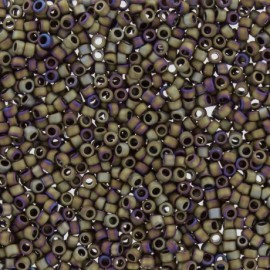 Perles de rocaille TOHO 11/0 X3g N°614 - Bois de rose mat irisé