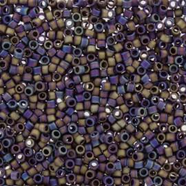 Perles de rocaille TOHO 11/0 X3g N°615 - Violine mat irisé