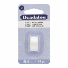 Fil de nylon pour perles Nymo Beadalon blanc x58,5m