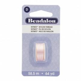 Fil de nylon pour perles Nymo Beadalon rose clair x58,5m