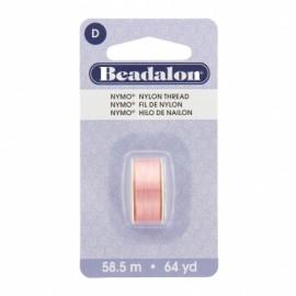 Fil de nylon pour perles Nymo Beadalon rose foncé x58,5m