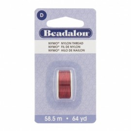 Fil de nylon pour perles Nymo Beadalon rouge x58,5m
