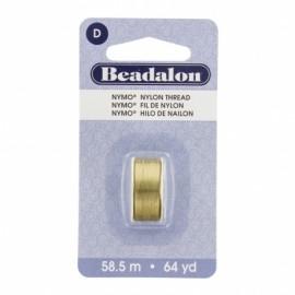 Fil de nylon pour perles Nymo Beadalon doré x58,5m