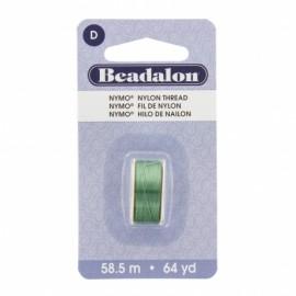 Fil de nylon pour perles Nymo Beadalon emeraude x58,5m