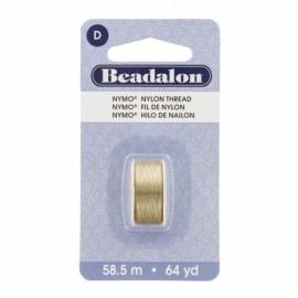 Fil de nylon pour perles Nymo Beadalon sable x58,5m
