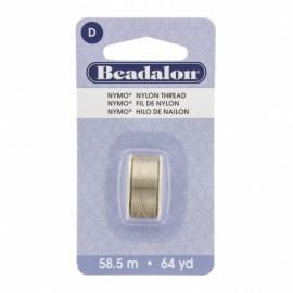 Fil de nylon pour perles Nymo Beadalon sable cendre x58,5m