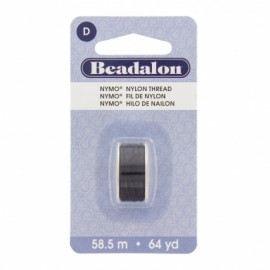 Fil de nylon pour perles Nymo Beadalon noir x58,5m