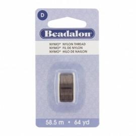 Fil de nylon pour perles Nymo Beadalon brun x58,5m