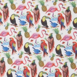 Tissu Liberty - Birds of paradise A x 10cm