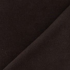 Tissu jersey tubulaire bord-côte 1/2 marron x 10cm