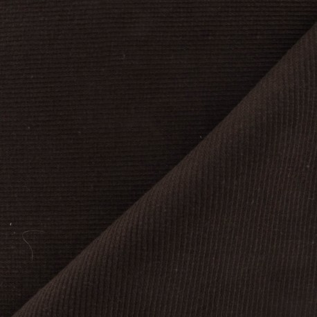Knitted Jersey 1/2 tubular edging fabric - brown x 10cm